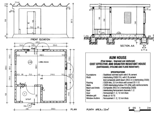 Auroville earth institute for Ferrocement house plans