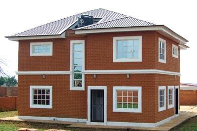 Auroville earth institute for Interlocking brick house plans